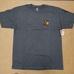 Vans M Pried Grey Crew Neck T-Shirt Men's Size XL
